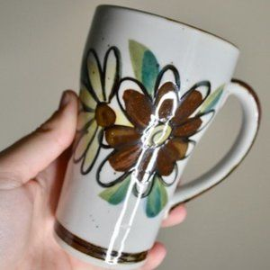 Vintage Brown Floral Watercolor Mug